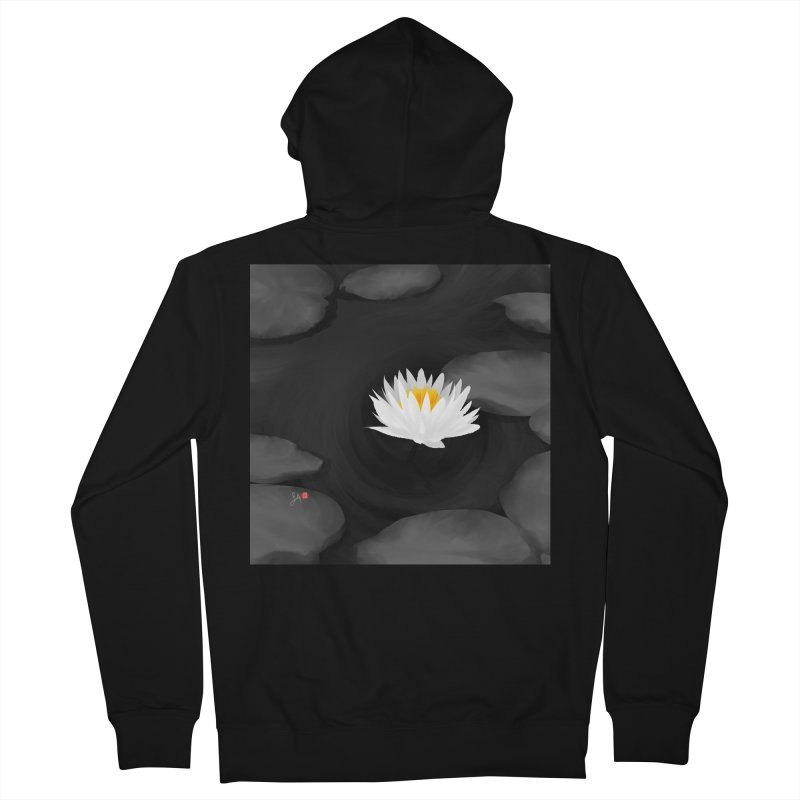 Lotus Men's French Terry Zip-Up Hoody by Designs by Billy Wan