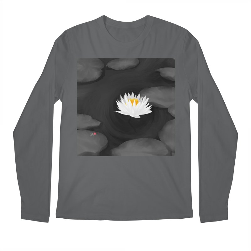 Lotus Men's Regular Longsleeve T-Shirt by Designs by Billy Wan