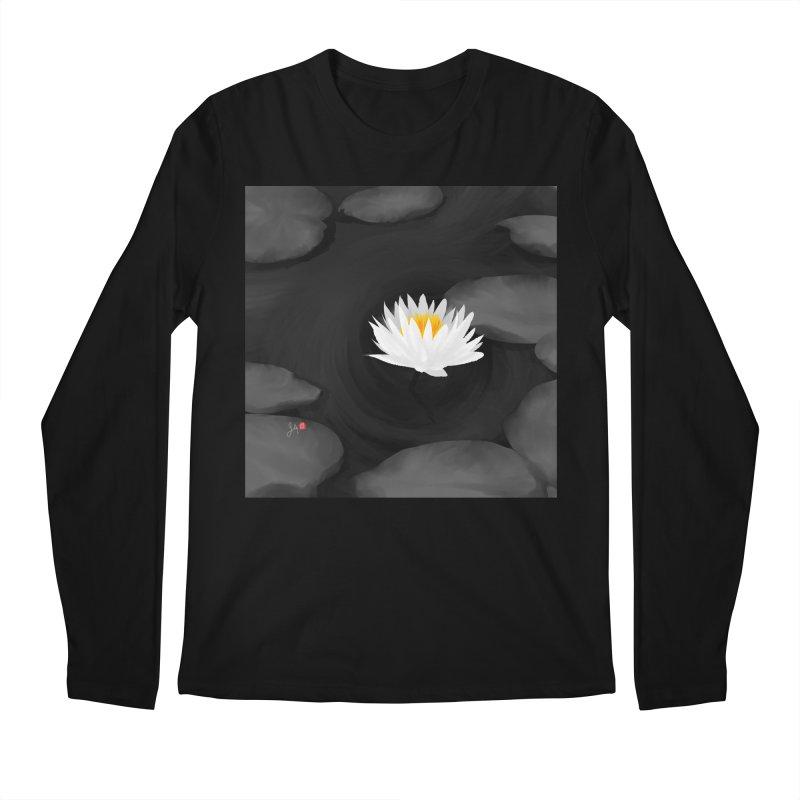 Lotus Men's Regular Longsleeve T-Shirt by Designs by Billy Wan