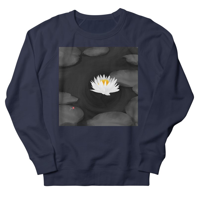 Lotus Women's French Terry Sweatshirt by Designs by Billy Wan
