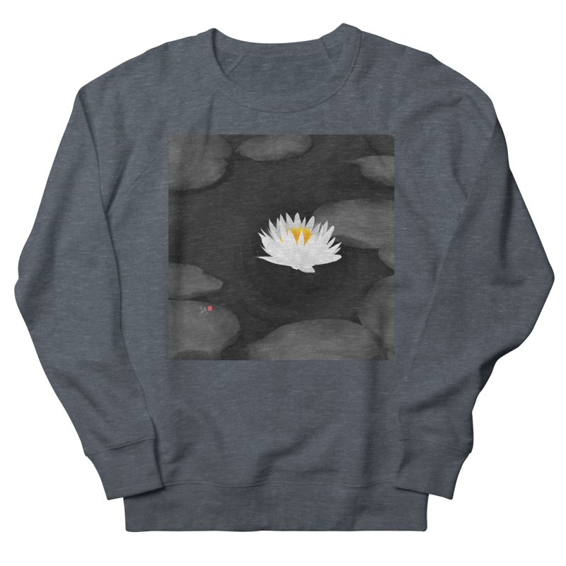 Lotus Men's French Terry Sweatshirt by Designs by Billy Wan
