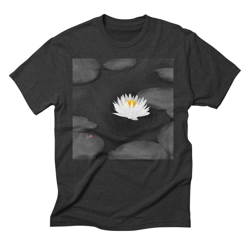 Lotus Men's Triblend T-Shirt by Designs by Billy Wan