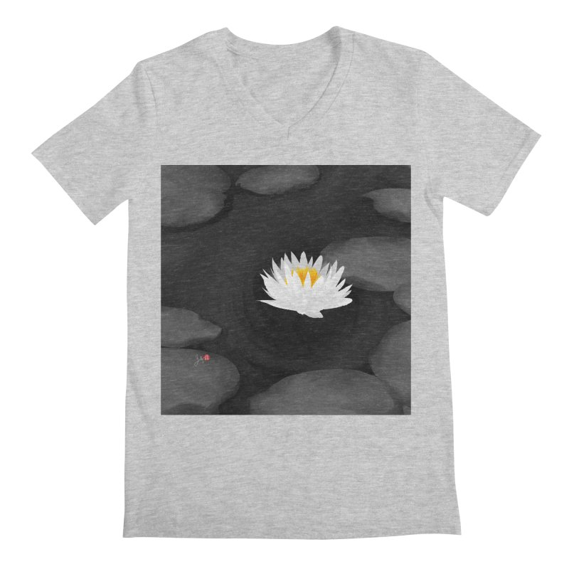 Lotus Men's Regular V-Neck by Designs by Billy Wan