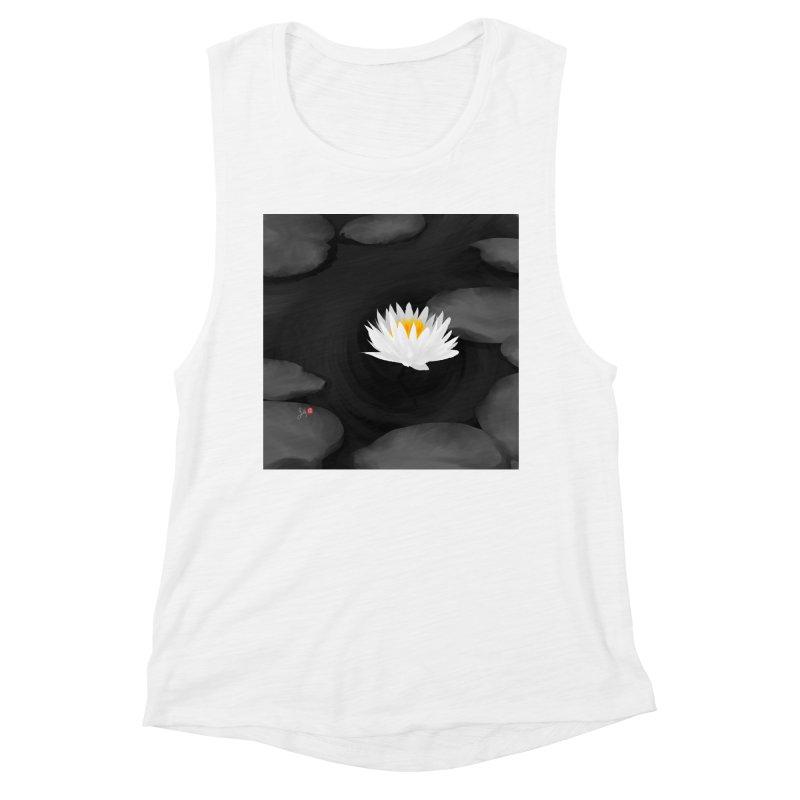 Lotus Women's Muscle Tank by Designs by Billy Wan