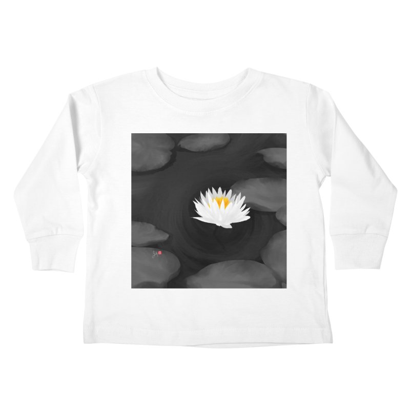 Lotus Kids Toddler Longsleeve T-Shirt by Designs by Billy Wan