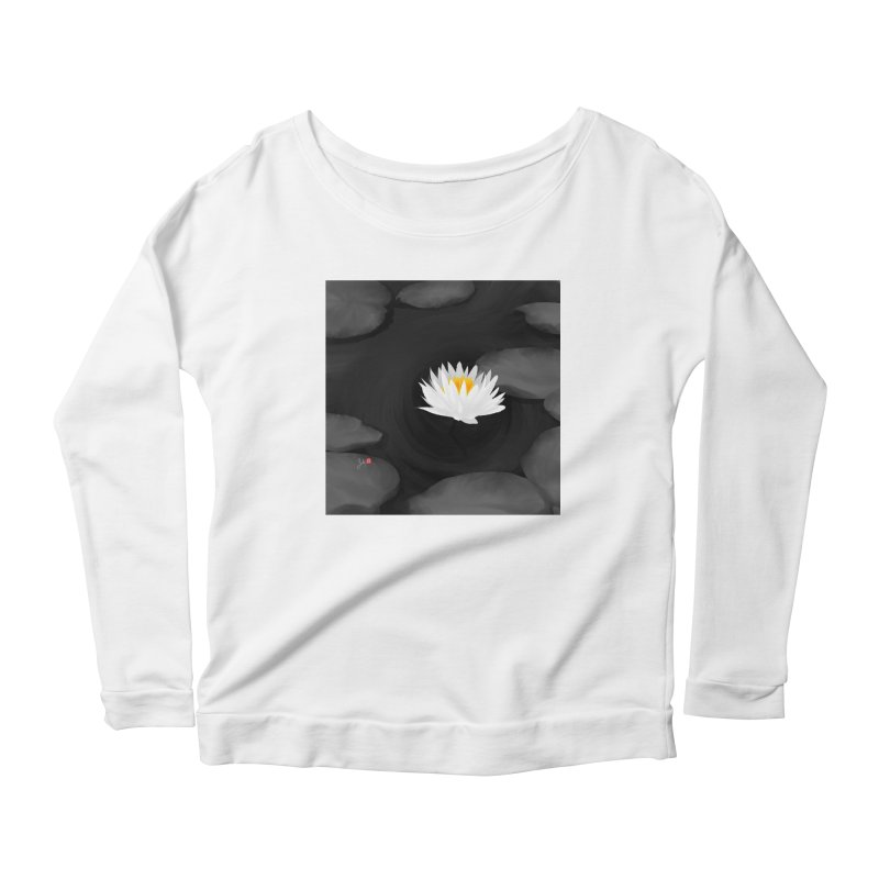Lotus Women's Scoop Neck Longsleeve T-Shirt by Designs by Billy Wan