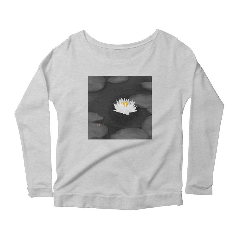 Lotus Women's Scoop Neck Longsleeve T-Shirt by Designs by Billy Wan