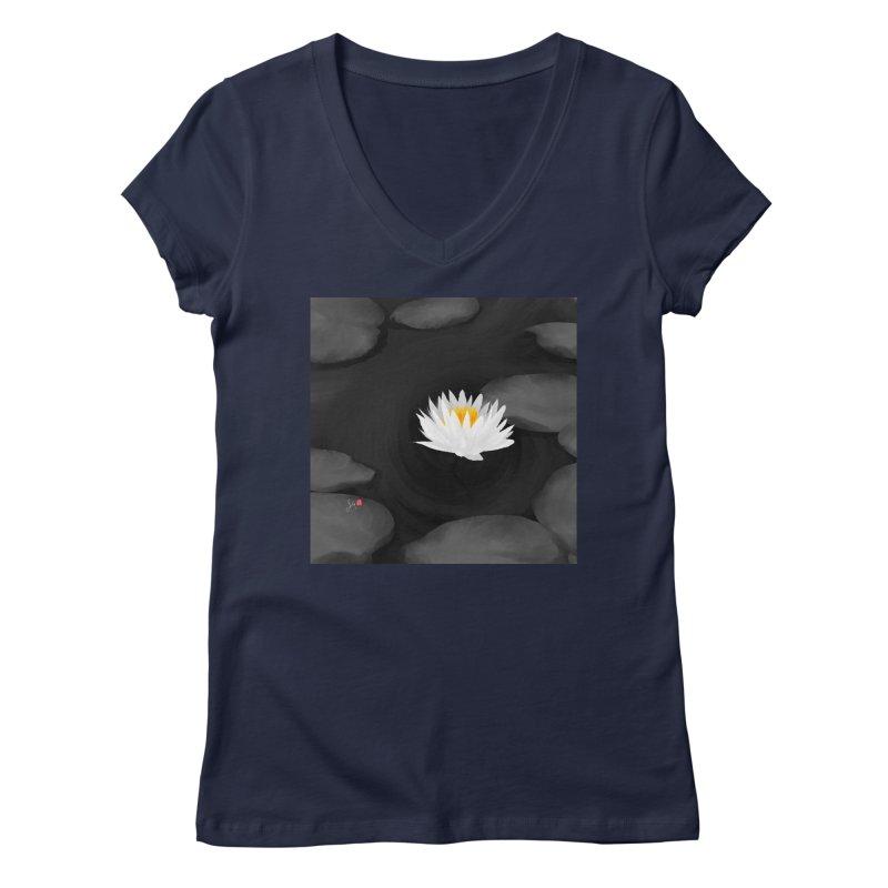 Lotus Women's Regular V-Neck by Designs by Billy Wan