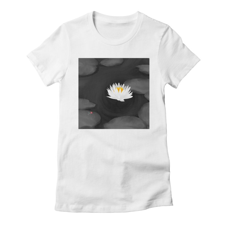 Lotus Women's Fitted T-Shirt by Designs by Billy Wan