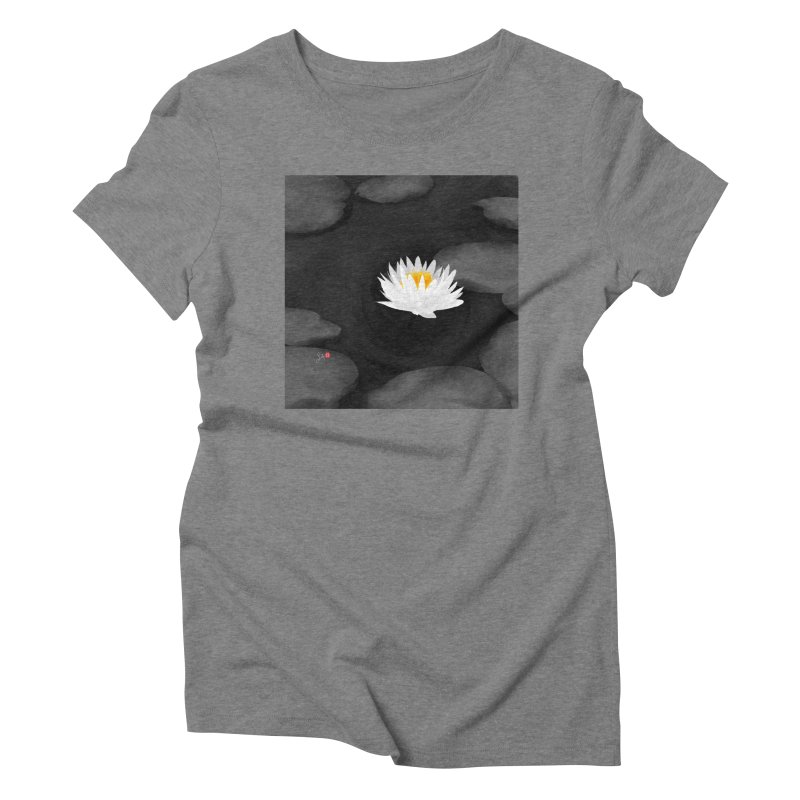 Lotus Women's Triblend T-Shirt by Designs by Billy Wan
