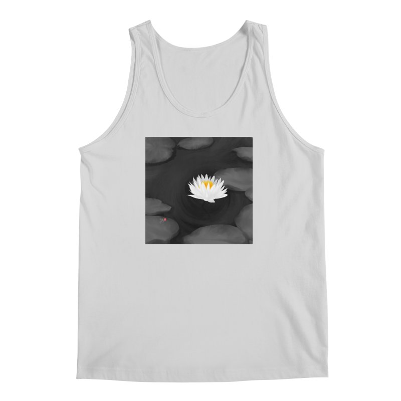 Lotus Men's Regular Tank by Designs by Billy Wan
