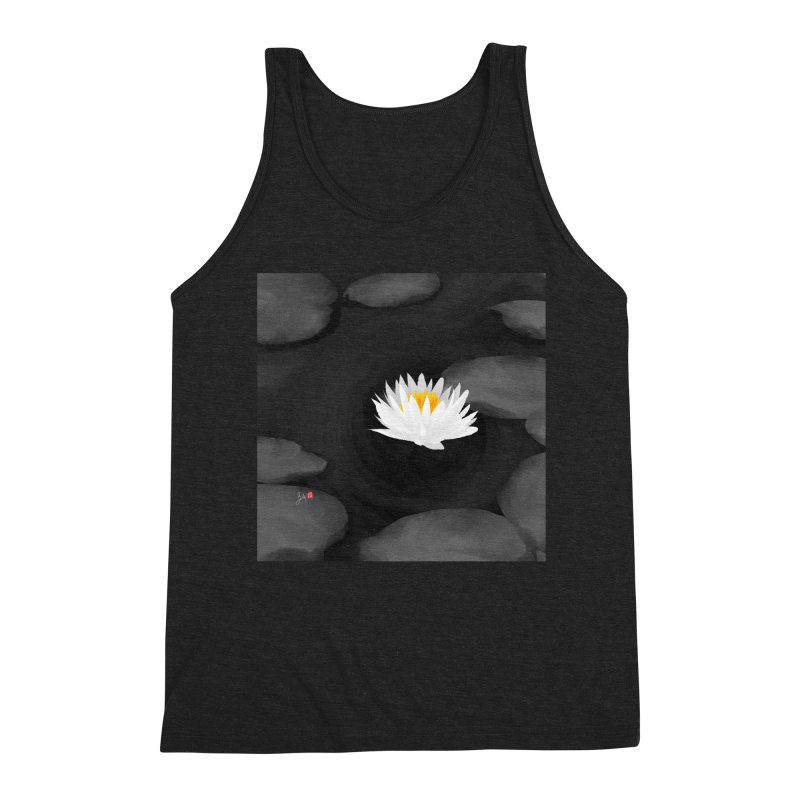 Lotus Men's Triblend Tank by Designs by Billy Wan