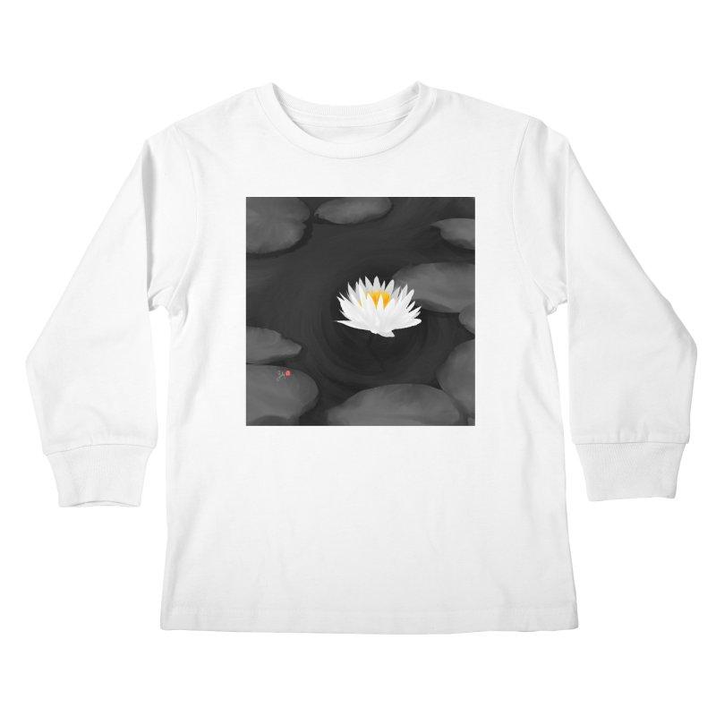 Lotus Kids Longsleeve T-Shirt by Designs by Billy Wan