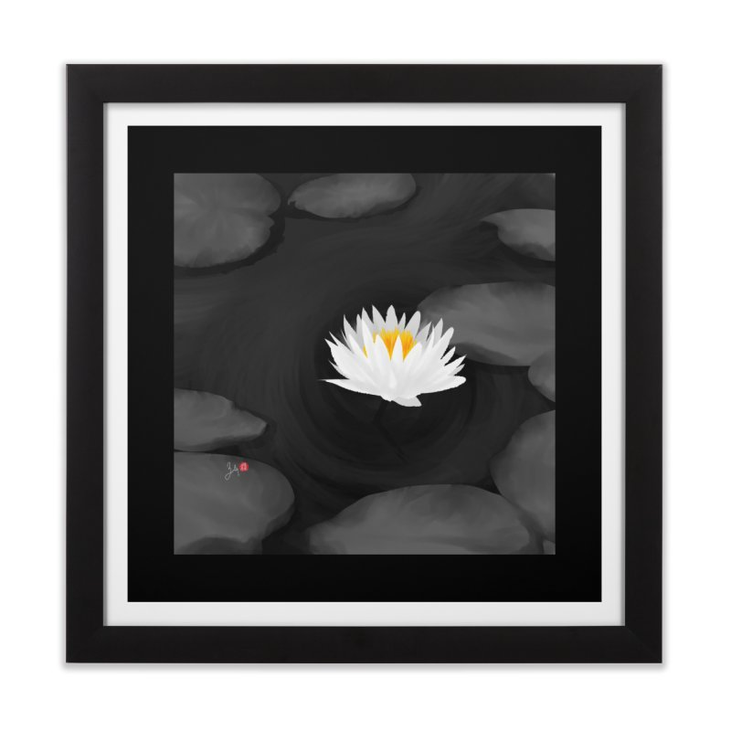 Lotus Home Framed Fine Art Print by Designs by Billy Wan