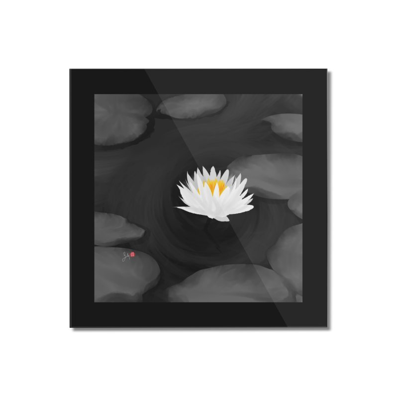 Lotus Home Mounted Acrylic Print by Designs by Billy Wan
