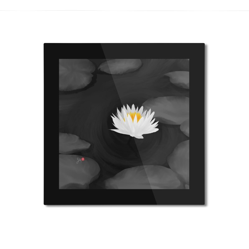 Lotus in Mounted Aluminum Print by Designs by Billy Wan