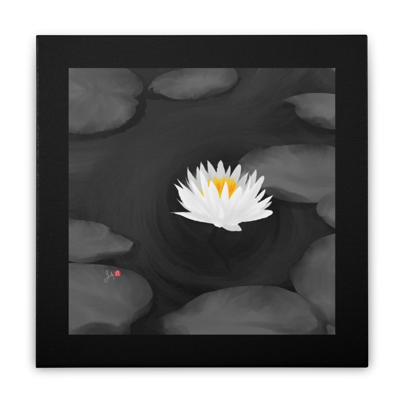 Lotus Home Stretched Canvas by Designs by Billy Wan