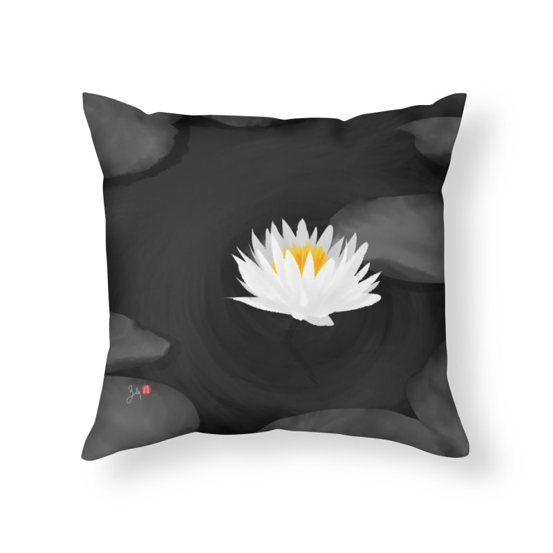 Lotus Home Throw Pillow by Designs by Billy Wan