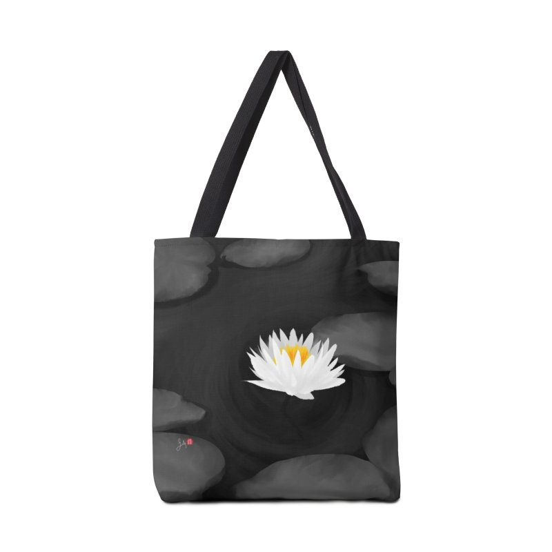 Lotus Accessories Tote Bag Bag by Designs by Billy Wan