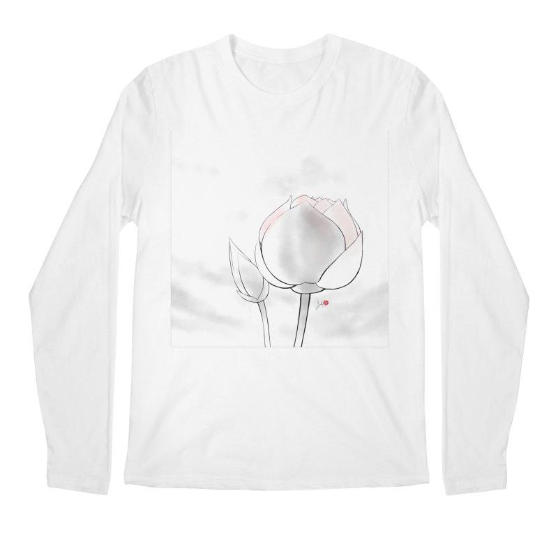 Lotus Bud Men's Longsleeve T-Shirt by Designs by Billy Wan