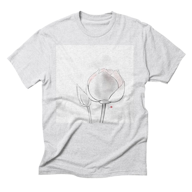 Lotus Bud Men's Triblend T-Shirt by Designs by Billy Wan