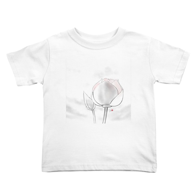 Lotus Bud Kids Toddler T-Shirt by Designs by Billy Wan
