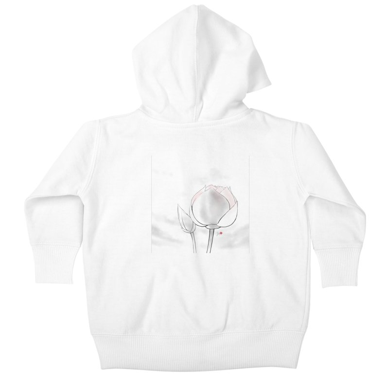 Lotus Bud Kids Baby Zip-Up Hoody by Designs by Billy Wan