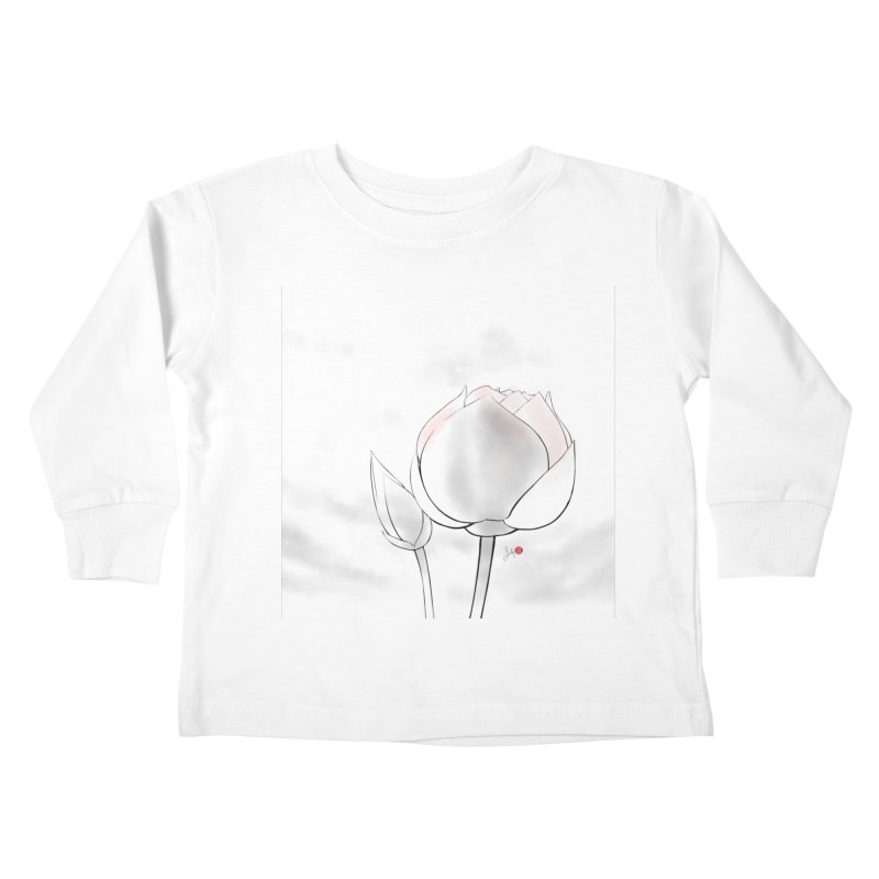 Lotus Bud Kids Toddler Longsleeve T-Shirt by Designs by Billy Wan