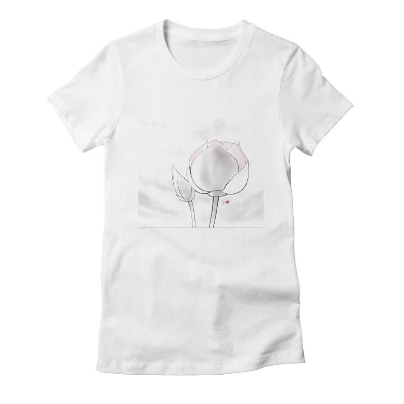 Lotus Bud Women's Fitted T-Shirt by Designs by Billy Wan