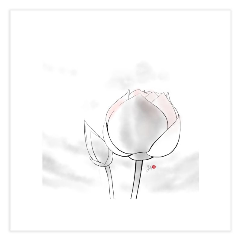 Lotus Bud Home Fine Art Print by Designs by Billy Wan