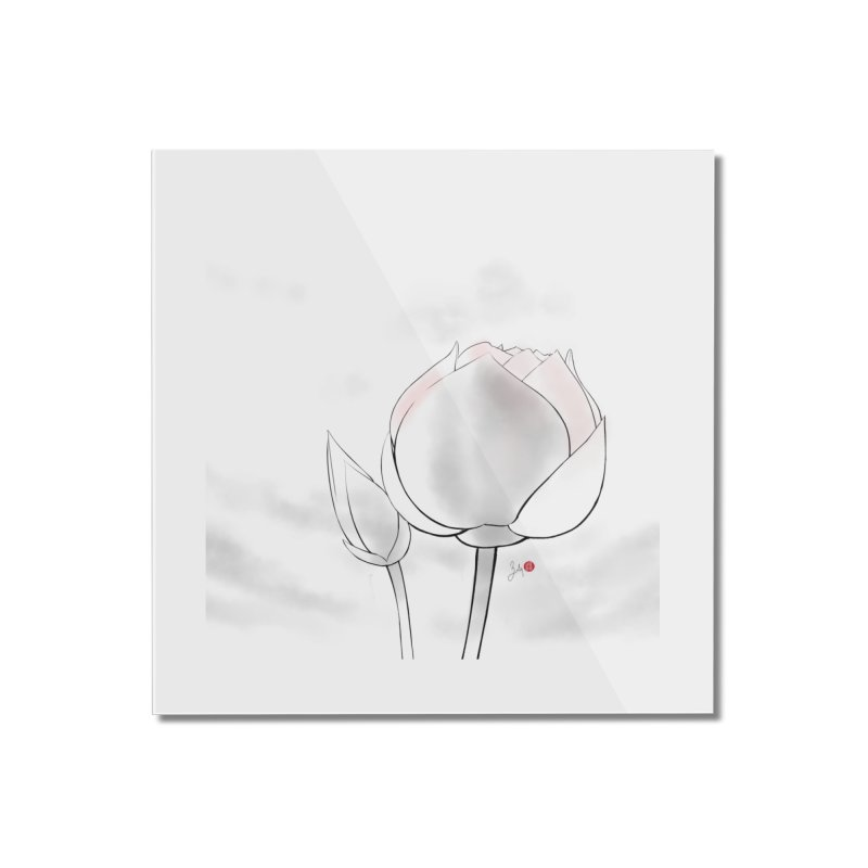 Lotus Bud Home Mounted Acrylic Print by Designs by Billy Wan