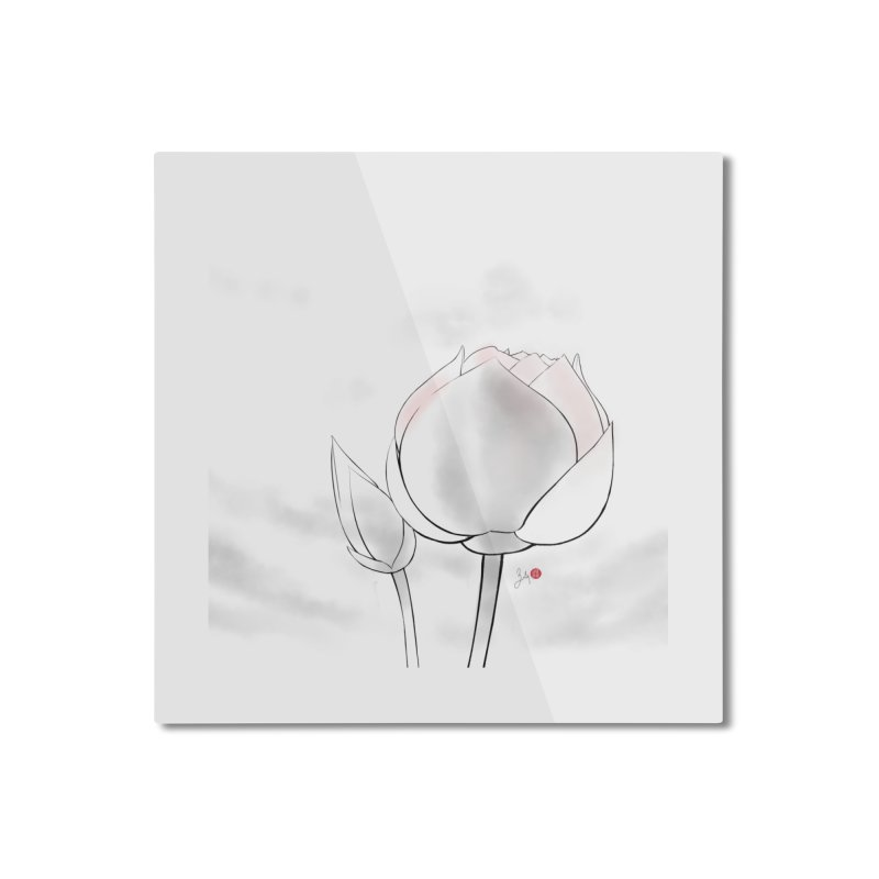 Lotus Bud Home Mounted Aluminum Print by Designs by Billy Wan