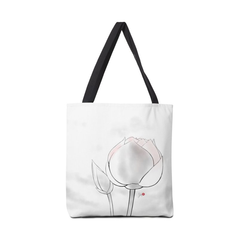 Lotus Bud Accessories Tote Bag Bag by Designs by Billy Wan