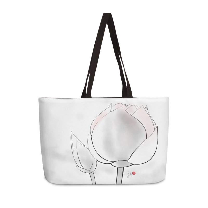 Lotus Bud Accessories Weekender Bag Bag by Designs by Billy Wan