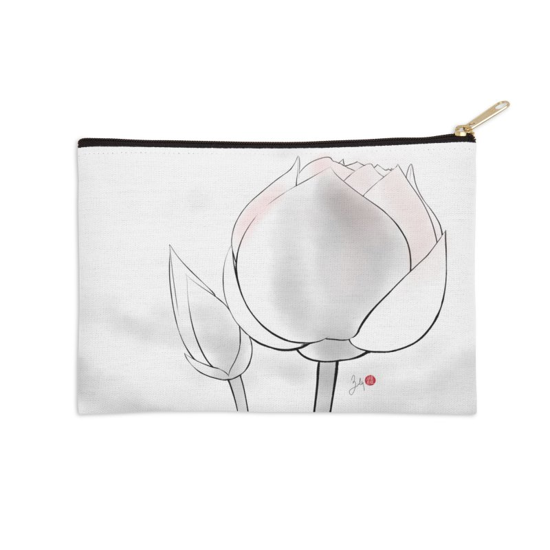 Lotus Bud Accessories Zip Pouch by Designs by Billy Wan