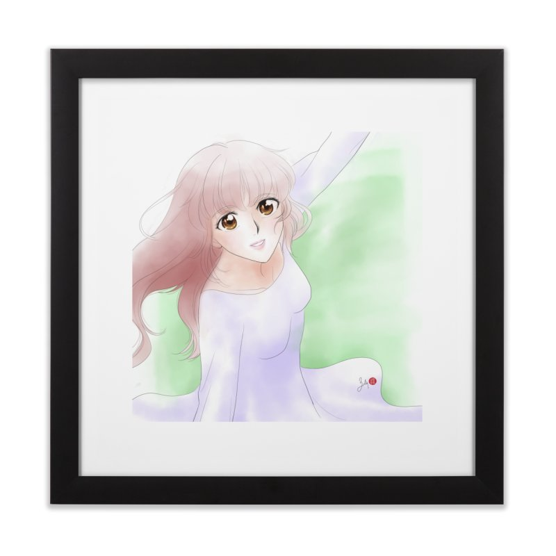 Manga Girl Home Framed Fine Art Print by Designs by Billy Wan