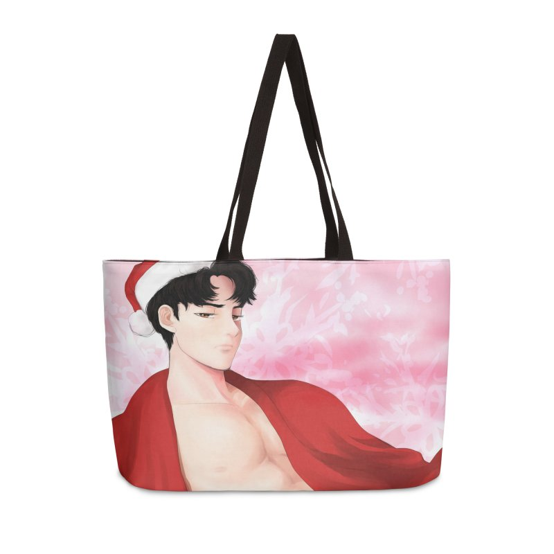 Bishonen Santa Accessories Weekender Bag Bag by Designs by Billy Wan