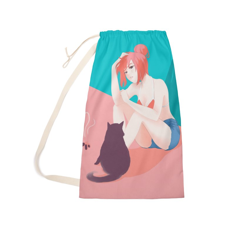 Cat Owner or Slave? Accessories Laundry Bag Bag by Designs by Billy Wan