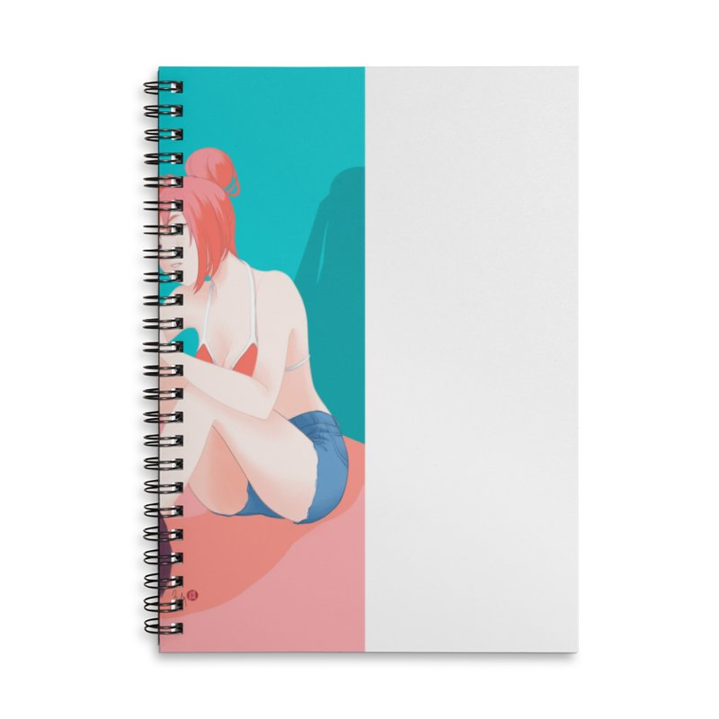 Cat Owner or Slave? Accessories Lined Spiral Notebook by Designs by Billy Wan