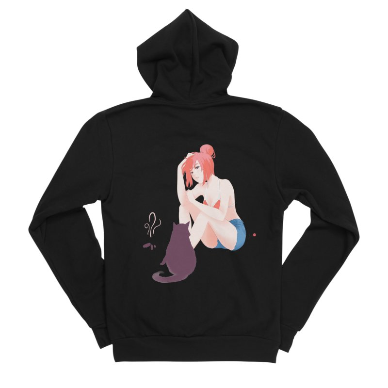 Cat Owner or Slave? Women's Sponge Fleece Zip-Up Hoody by Designs by Billy Wan