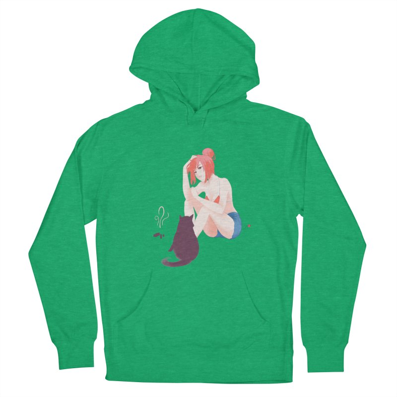 Cat Owner or Slave? Men's French Terry Pullover Hoody by Designs by Billy Wan