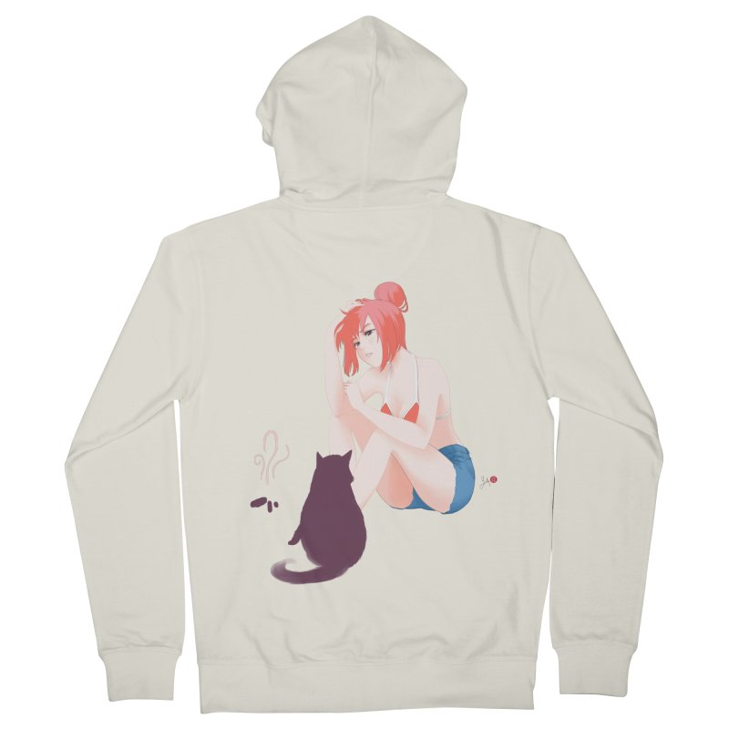Cat Owner or Slave? Men's French Terry Zip-Up Hoody by Designs by Billy Wan