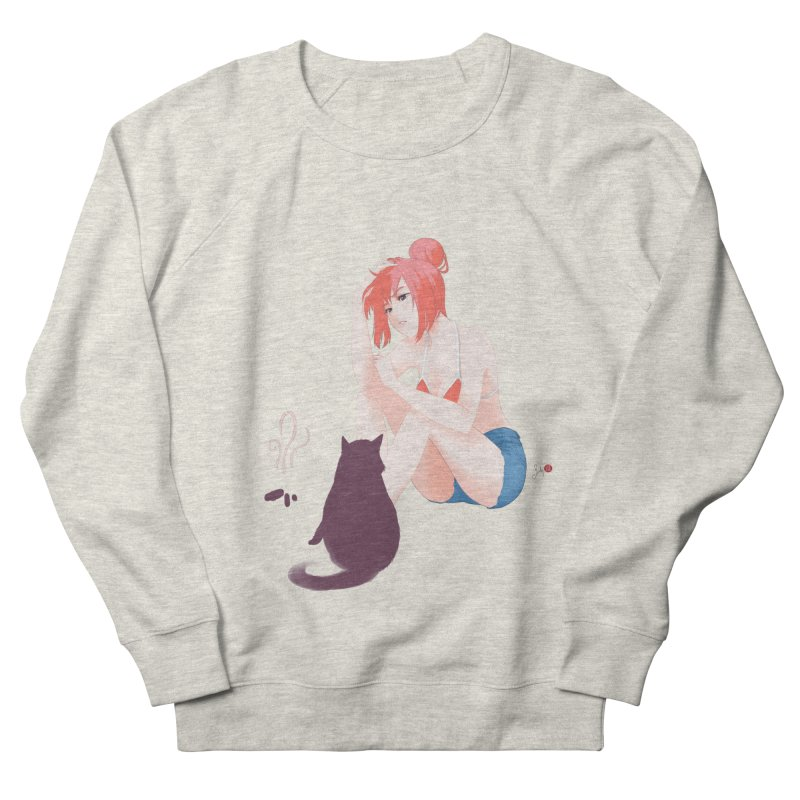 Cat Owner or Slave? Men's French Terry Sweatshirt by Designs by Billy Wan