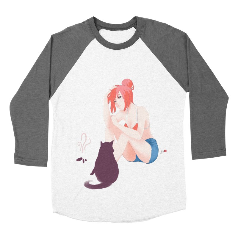 Cat Owner or Slave? Women's Baseball Triblend Longsleeve T-Shirt by Designs by Billy Wan