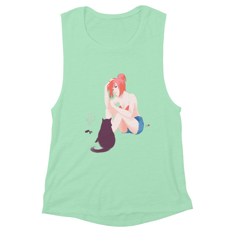 Cat Owner or Slave? Women's Tank by Designs by Billy Wan