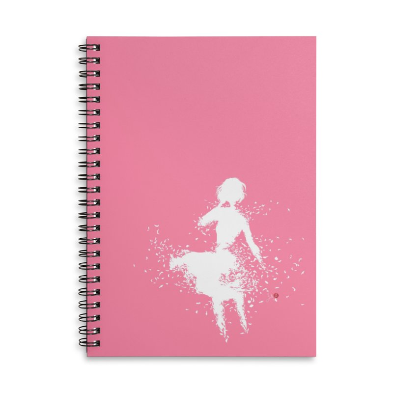 Into Infinity Accessories Lined Spiral Notebook by Designs by Billy Wan
