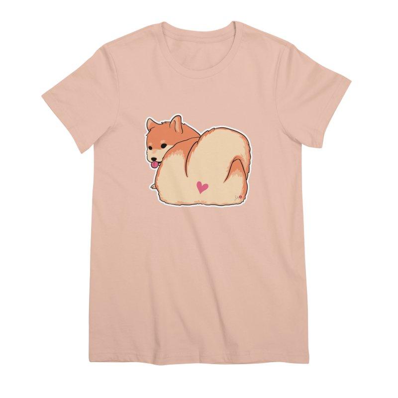 Shiba Inu Butt Women's Premium T-Shirt by Designs by Billy Wan