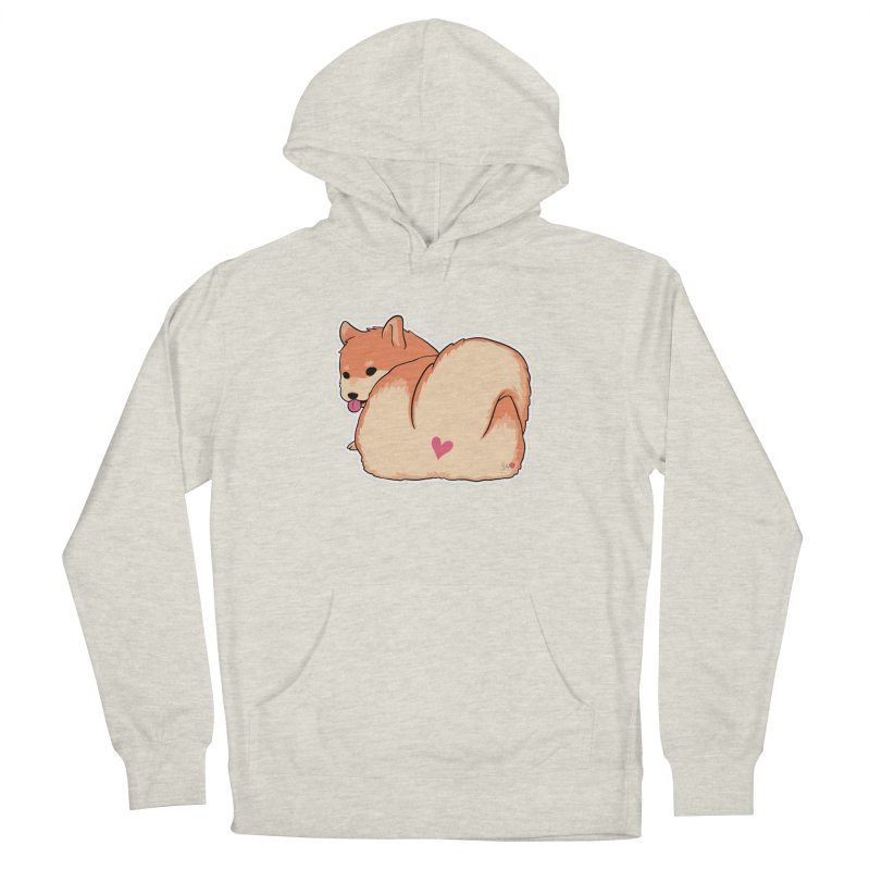 Shiba Inu Butt Men's French Terry Pullover Hoody by Designs by Billy Wan