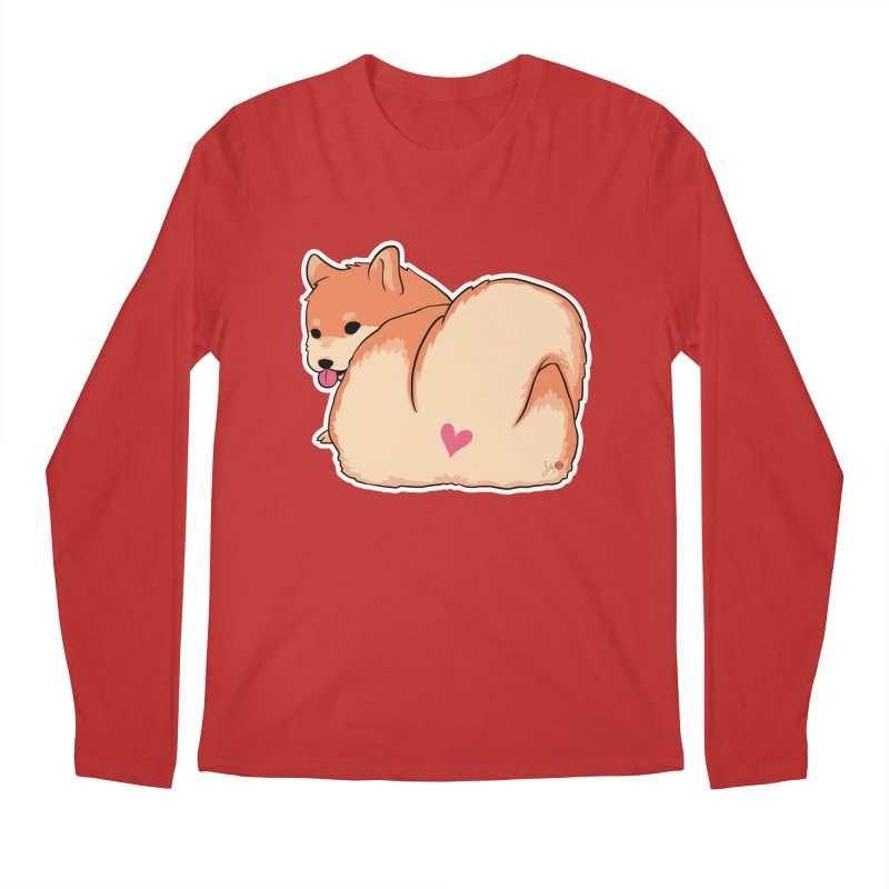 Shiba Inu Butt Men's Regular Longsleeve T-Shirt by Designs by Billy Wan