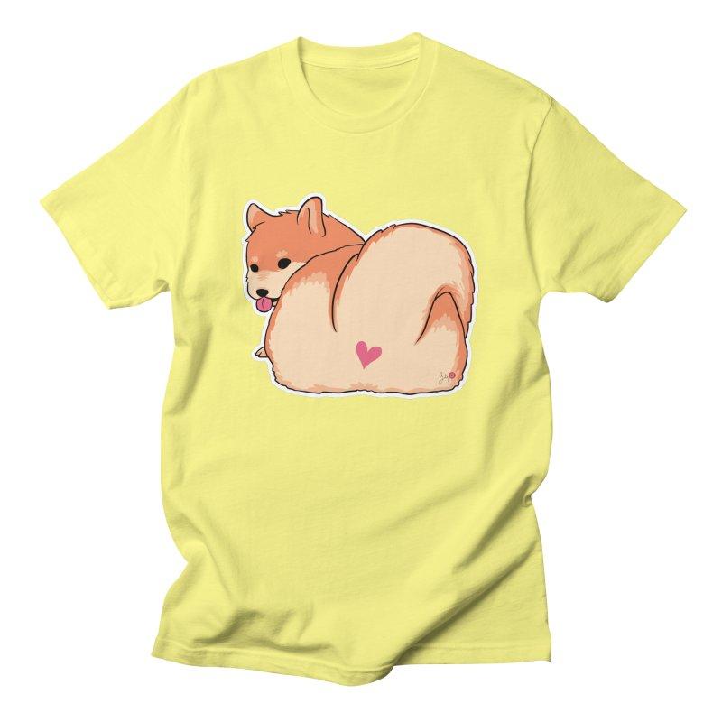 Shiba Inu Butt Men's T-Shirt by Designs by Billy Wan